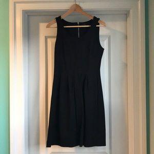 J. Crew black dress with zipper detail on back